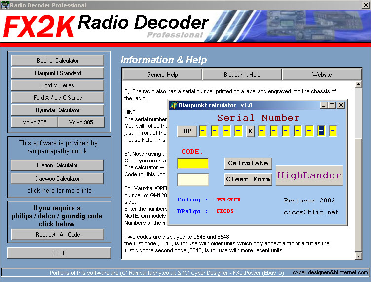 free parabola decoder tv chanel software